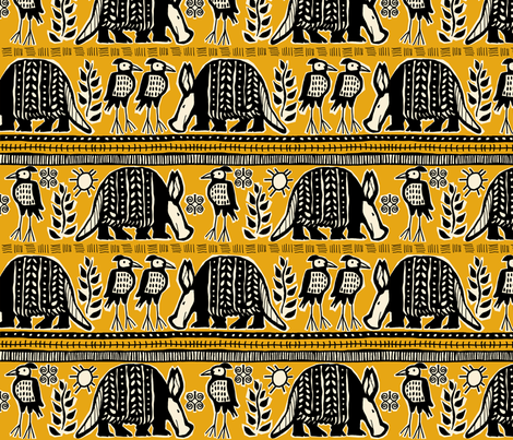 African Beauty design 150 fabric by lacy_and_jojo on Spoonflower - custom fabric