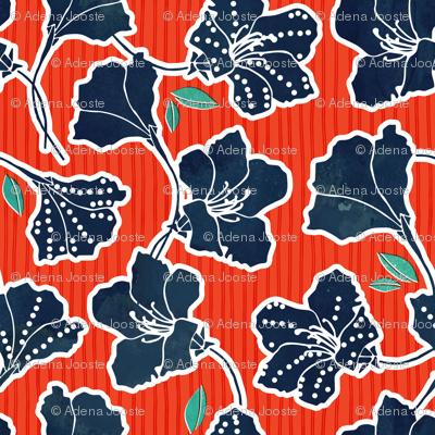 African Inspired Azalea Orange Stripe