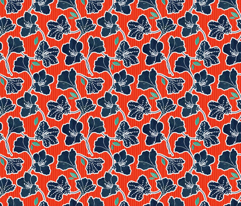 African Inspired Azalea Orange Stripe fabric by adenaj on Spoonflower - custom fabric