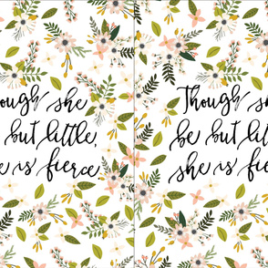though she be but little, she is fierce blush sprigs and blooms // 2 vertical per yard