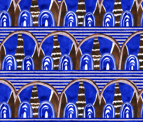 Blue Batik fabric by flowie on Spoonflower - custom fabric