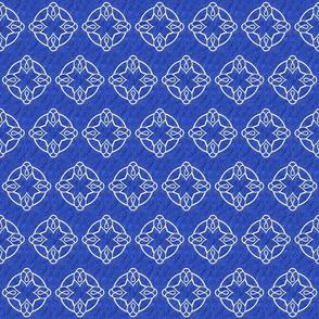 Butterfly Blue White Outline bigger