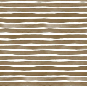 Watercolor Stripes M+M Nutmeg by Friztin