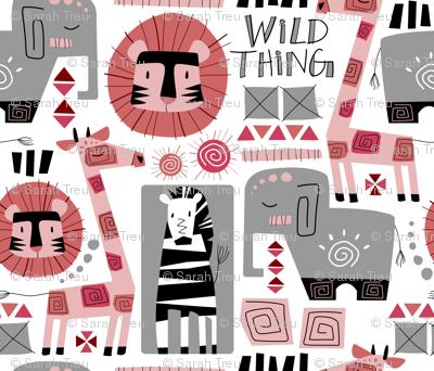 Wild Thing (Pink & Gray)