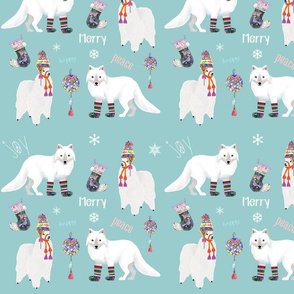 Winter Alpaca And Fox