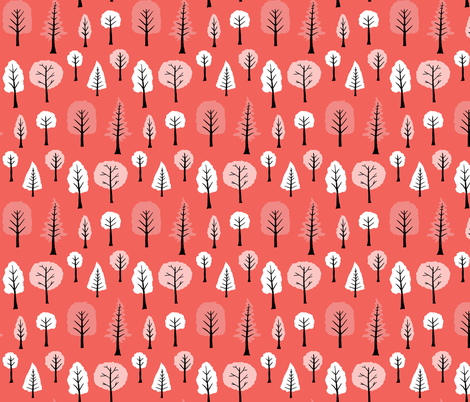 Melon Trees fabric by onelittleprintshop on Spoonflower - custom fabric