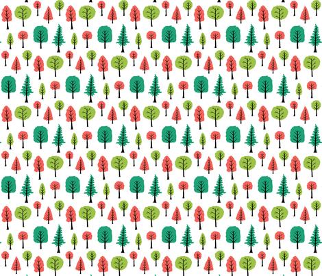 Trees fabric by onelittleprintshop on Spoonflower - custom fabric