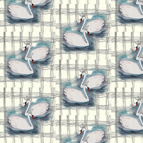SWAN LAKE PLAID  EGGSHELL OVERLAP