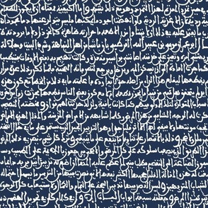 Ancient Arabic on Navy // Small