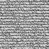 Ancient Arabic on Grey // Small