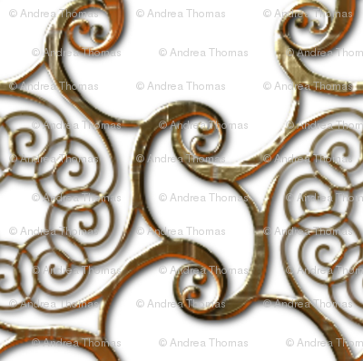 Bronze Curls Embossed