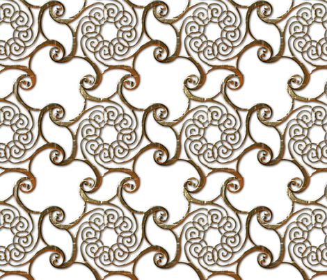 Bronze Curls Embossed fabric by aindreemcg on Spoonflower - custom fabric