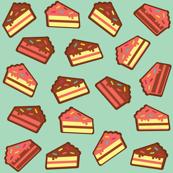 Cake Slice-Aqua