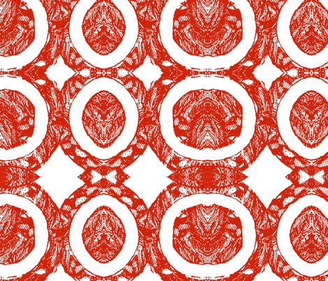 Circle Sketches Tribal fabric by aindreemcg on Spoonflower - custom fabric