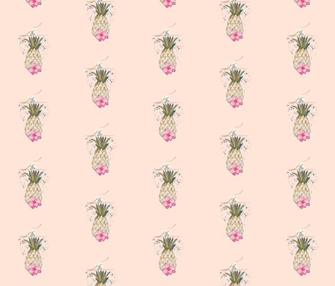 PINEAPPLE 10C PEACH fabric by hunnellekari on Spoonflower - custom fabric