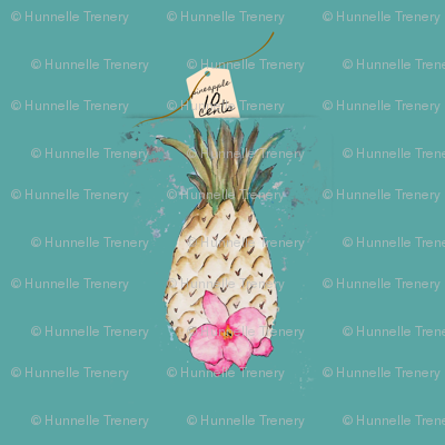 PINEAPPLE 10Cents TEAL