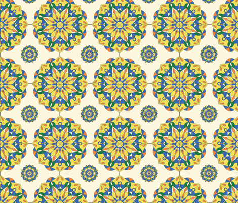 design-challenge-tile fabric by margiecampbellsamuels on Spoonflower - custom fabric