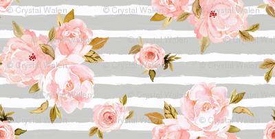 blush rose gray stripe