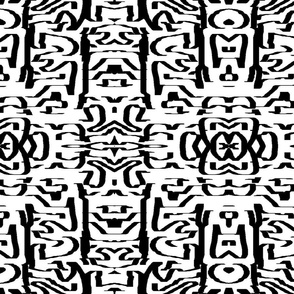 Tribal_Black and White_Abstract