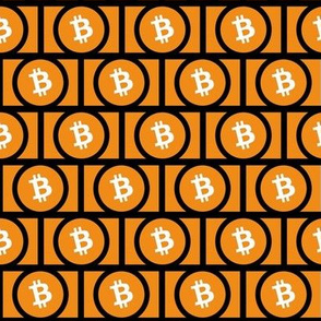 Bitcoin Logo on Black // Small