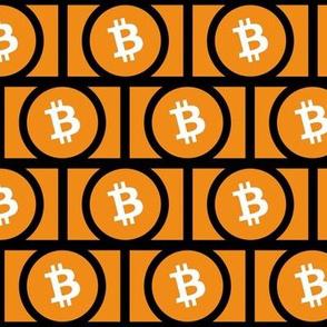 Bitcoin Logo on Black // Large