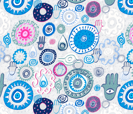 Plaka Eyes fabric by slumbermonkey on Spoonflower - custom fabric