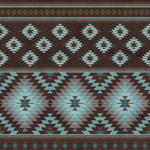 KILIM  in brown and blue