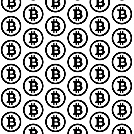Bitcoin Symbol // Small fabric by thinlinetextiles on Spoonflower - custom fabric