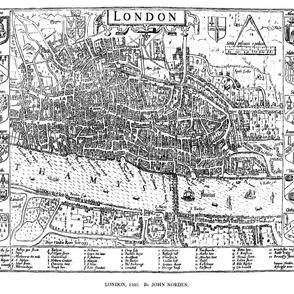 "1593 Map of London (42""W)"