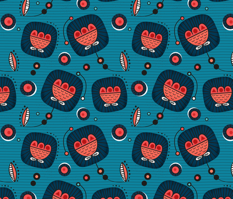 wax fabric by la_fabriken on Spoonflower - custom fabric