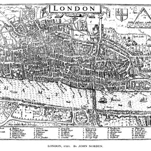 """1593 Map of London (54"""" W)"""