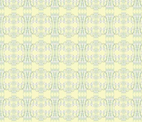 snowdrop yellow fabric by karmacranes on Spoonflower - custom fabric