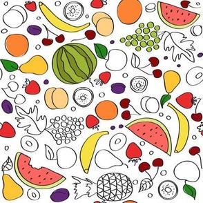 Summer doodle fruit