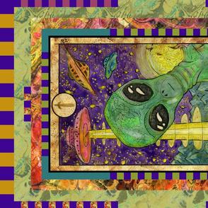 THREE OF SWORDS ALIEN TAROT CARD PANEL MINOR ARCANA