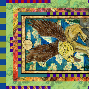 TEN OF SWORDS GRYPHON TAROT CARD PANEL minor arcana