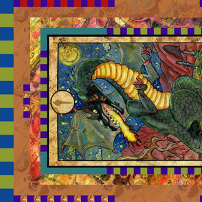 TEN OF WANDS DRAGON TAROT CARD PANELMINOR ARCANA HORIZONTAL BY FLOWERYHAT