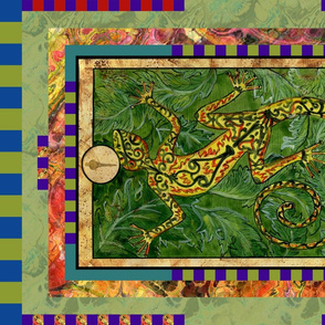 ACE OF WANDS SALAMANDER TAROT CARD PANELMINOR ARCANA