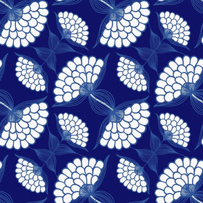 Bold Floral Print in Navy