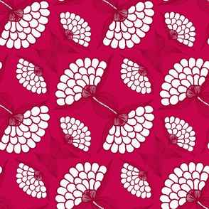 Bold Floral Print in Magenta