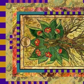 ACE OF PENTACLES MANDRAGORA TAROT CARD PANEL minor arcana