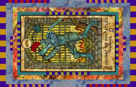 KNIGHT OF PENTACLES WARRIOR TAROT CARD PANEL minor arcana
