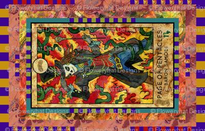 PAGE OF PENTACLES BARON SAMODI TAROT CARD PANEL minor arcana HORIZONTAL