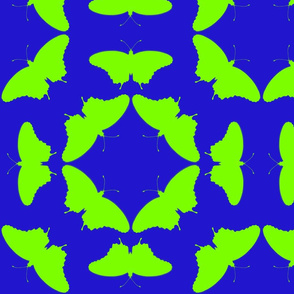 radioactive butterflies blue green