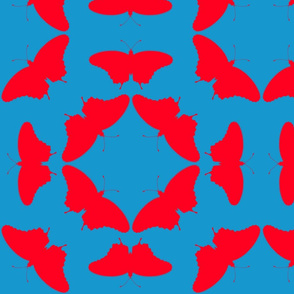 radioactive butterflies blue red