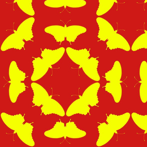 radioactive butterflies flame yellow