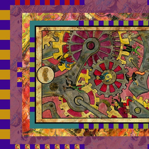 SEVEN OF PENTACLES GREMLINS TAROT CARD PANEL minor arcana HORIZONTAL BY FLOWERYHAT