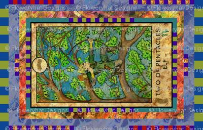 TWO OF PENTACLES ELF TAROT CARD PANEL minor arcana