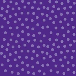 royal purple polka dots