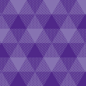 royal purple large triangle plaid
