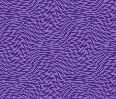 Royal purple zigzag wave fabric by weavingmajor on Spoonflower - custom fabric
